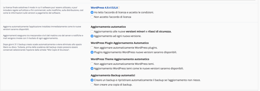 10 settaggi 1024x358 - Come installare wordpress su provider netsons