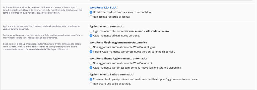 10 settaggi 1024x358 - Come installare wordpress su provider netsons