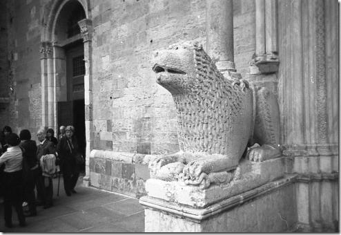 12 - Parma, Ucita dalla messa in Duomo da dietro i leoni, Tito Andronico