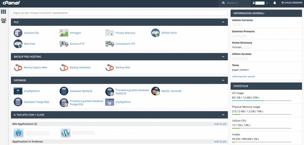 4 cpanel 1024x490 - Come installare wordpress su provider netsons