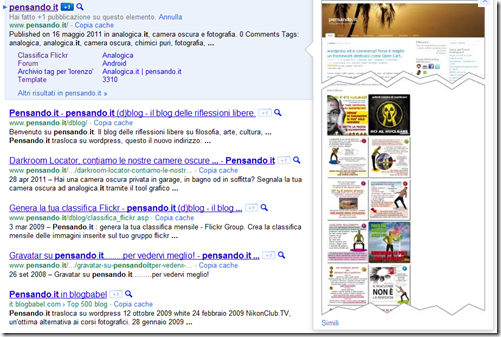 Cattura_thumb Google ha generato i sitelink per Pensando.it tech wordpress