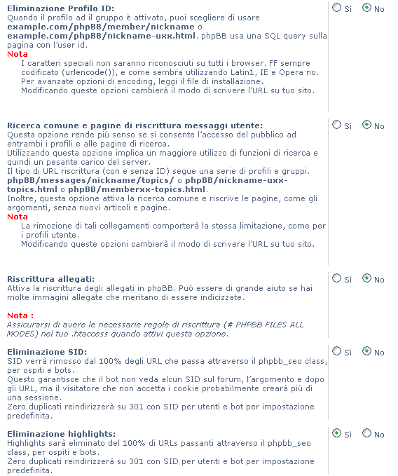 2 - Come abilitare l'url rewrite su un forum phpBB3