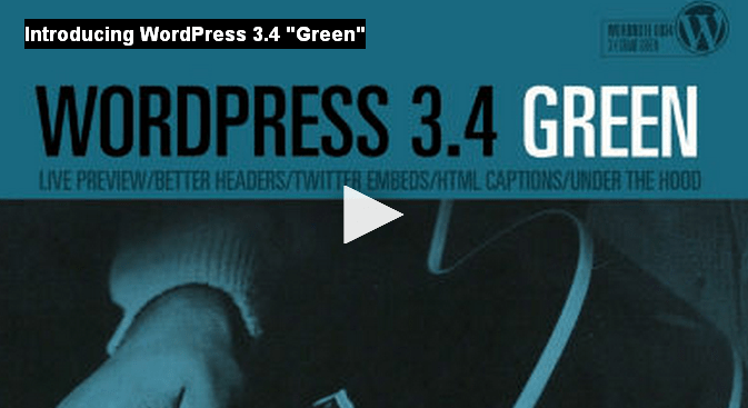 "wordpress 3.4 ""Green"" disponibile per il download"
