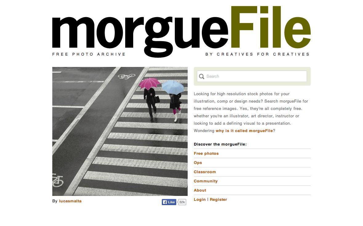morguefile - I 10 migliori website (più uno) dove trovare immagini gratis per il tuo blog