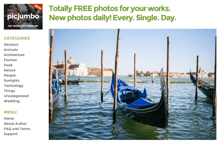 picjumbo - I 10 migliori website (più uno) dove trovare immagini gratis per il tuo blog