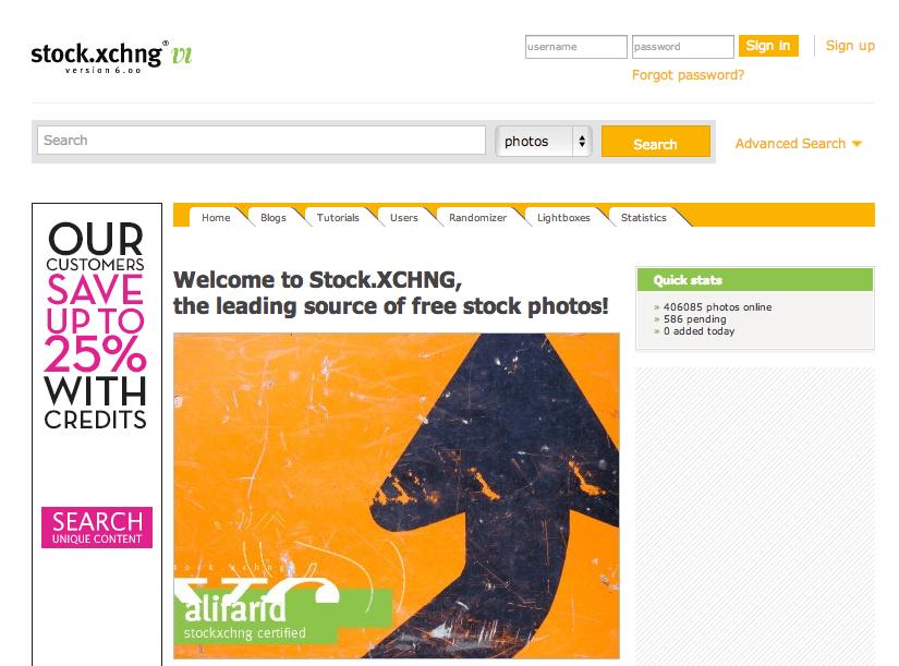 stock xchng - I 10 migliori siti dove scaricare immagini gratis per il tuo blog