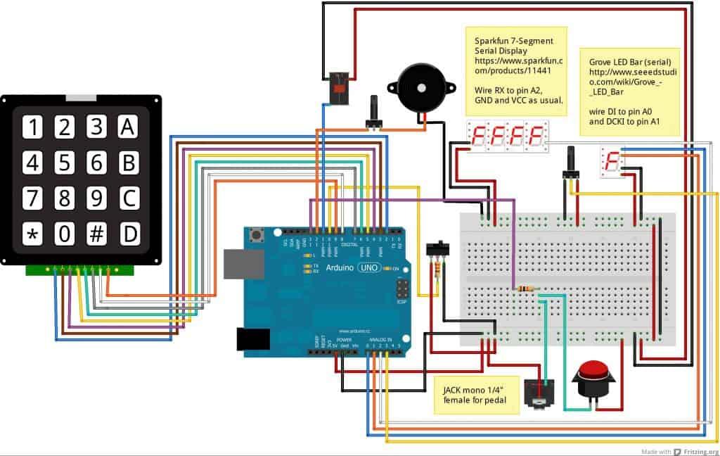 timerino, un timer programmabile per ingranditore costruito con il microcontroller Arduino