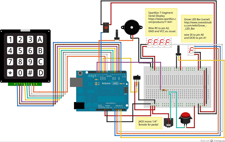 Schema DL002A - timerino, un timer programmabile per ingranditore costruito con il microcontroller Arduino