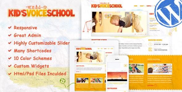 Kids Voice School - I 5 migliori template wordpress dedicati ai bambini