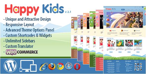 happy kids - I 5 migliori template wordpress dedicati ai bambini
