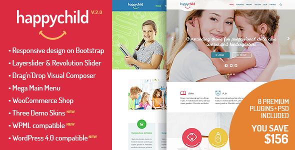 happychild - I 5 migliori template wordpress dedicati ai bambini