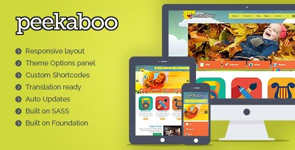 pekaboo - I 5 migliori template wordpress dedicati ai bambini