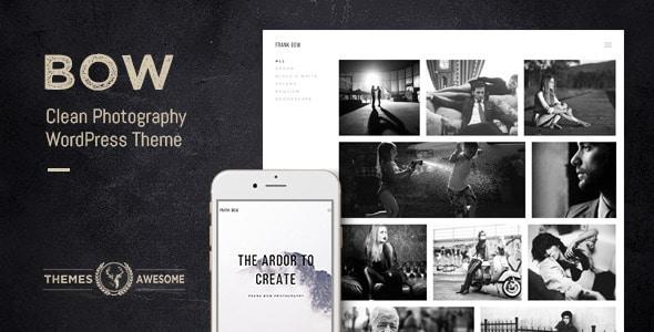 bow - Sei un fotografo? Ecco i migliori temi per il tuo website in wordpress