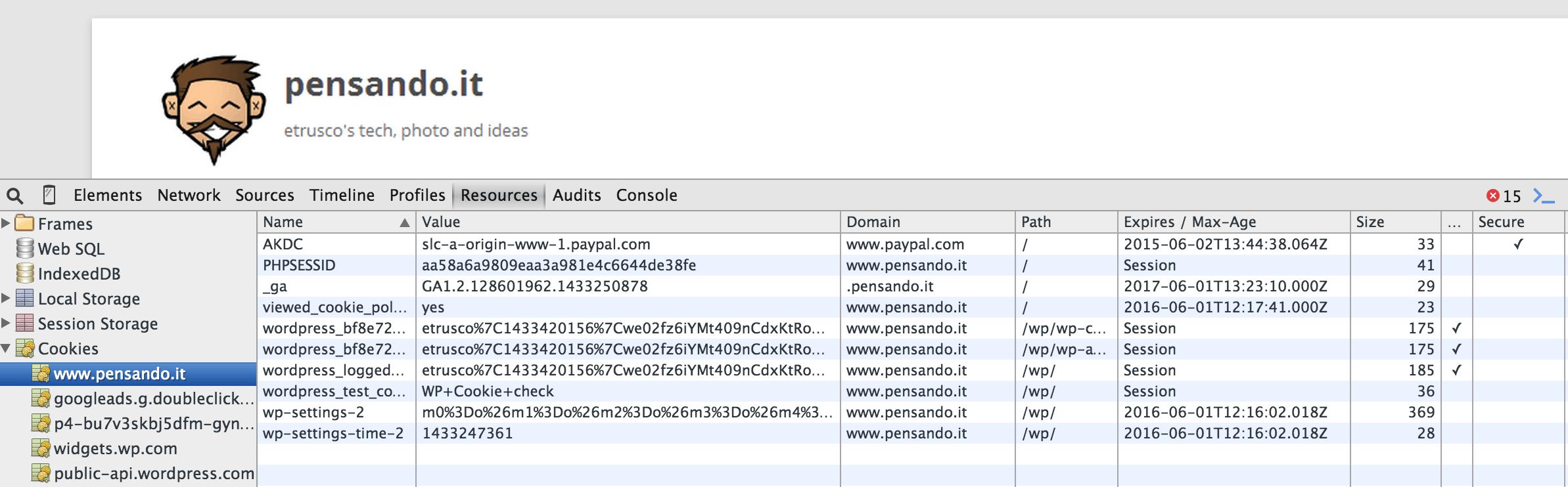 Schermata 2015 06 02 alle 15.27.55 - Tre cose da fare (più una) per gestire la cookie policy su blog wordpress