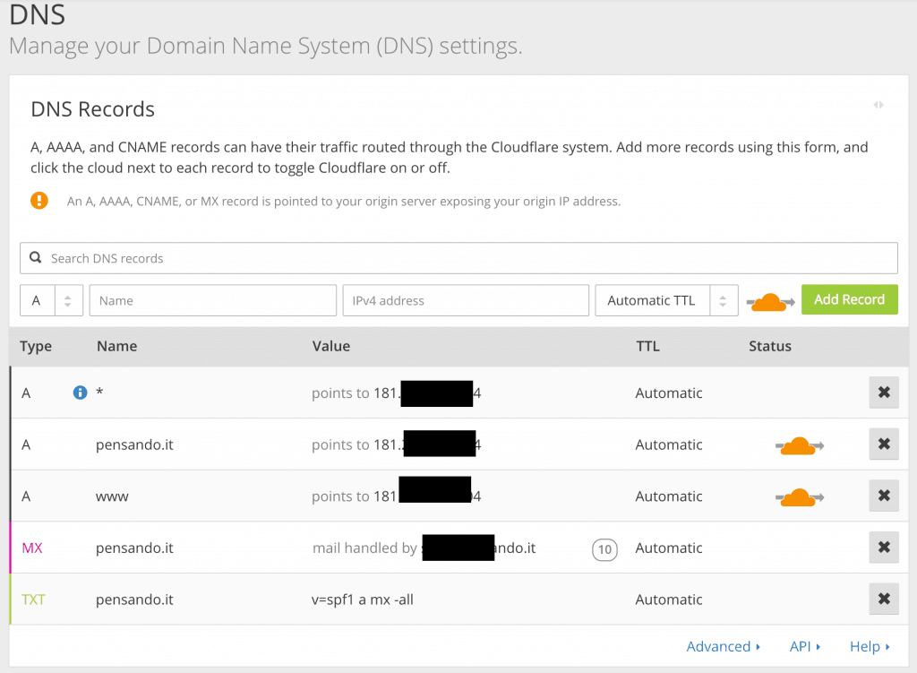 cloudflare dns 1024x751 - velocizzare wordpress : wprocket cloudflare studiopress siteground