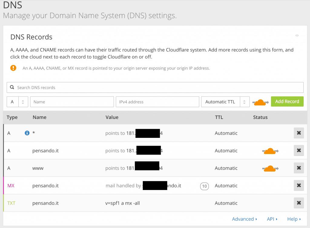 cloudflare dns 1024x751 - velocizzare wordpress : wprocket cloudflare studiopress siteground