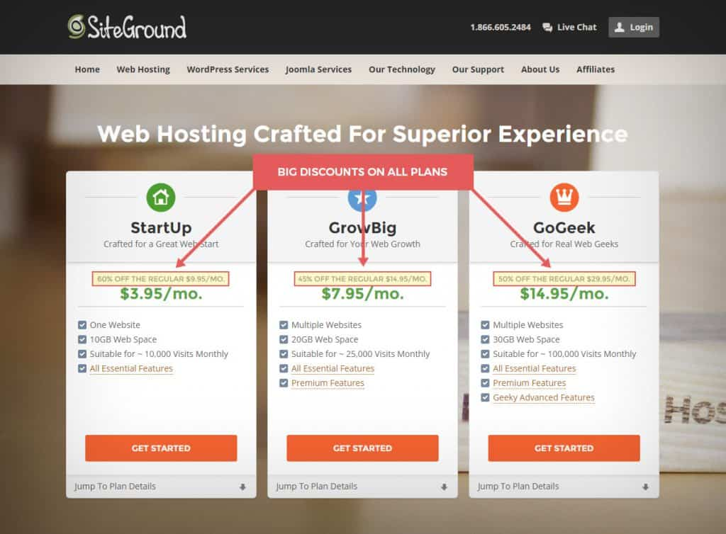 hostingsignup step1 1024x754 - velocizzare wordpress : wprocket cloudflare studiopress siteground