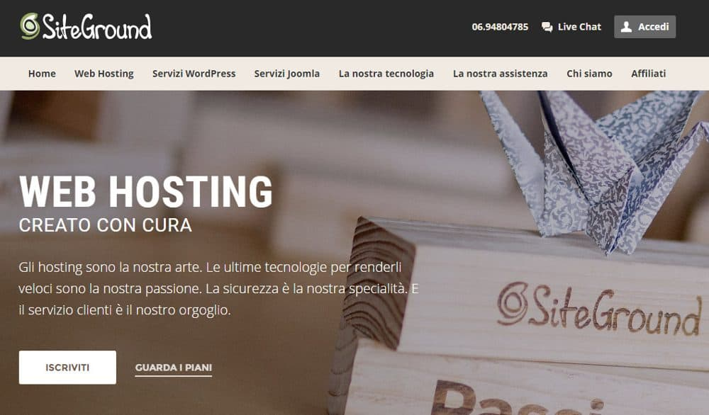 Siteground (finalmente) in Italiano