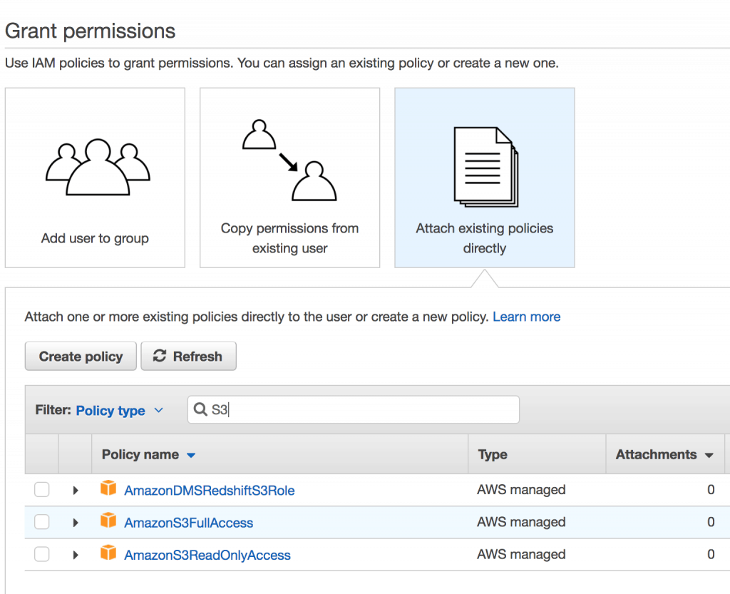 004 IAM permessi 1024x833 - AWS CloudFront CDN: Come configurarla per velocizzare wordpress
