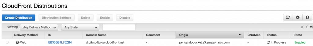 046 CloudFront in creazione 1024x152 - AWS CloudFront CDN: Come configurarla per velocizzare wordpress
