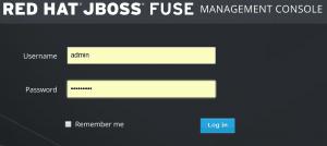 fuse login 300x134 - Come implementare un (semplice) sistema IoT con redhat jboss fuse, node.js e mongodb