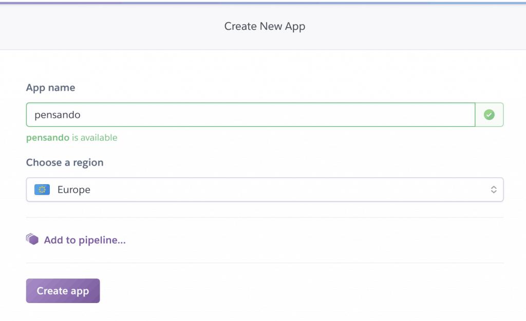 15 create heroku app 1024x626 - Deployare un'app node.js su Heroku in Continuous Integration con gitHub