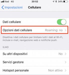 3 iliad dati cell 275x300 - Guida alla configurazione della sim iliad su iPhone