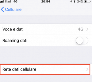 6 iliad rete dati 300x266 - Guida alla configurazione della sim iliad su iPhone