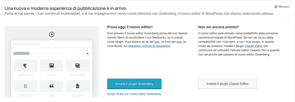 0 wordpress gutenberg 1024x356 - wordpress gutenberg: tutto quello che c'è da sapere sul nuovo editor di testo