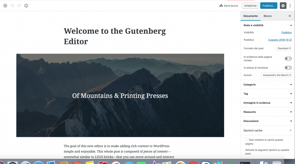 1 wordpress gutenberg 1024x570 - wordpress gutenberg: tutto quello che c'è da sapere sul nuovo editor di testo