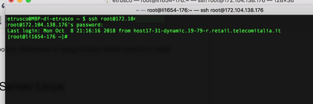10 accesso ssh 1024x343 - Linode: Come creare un SSD Cloud Server Linux (con soli 5$)