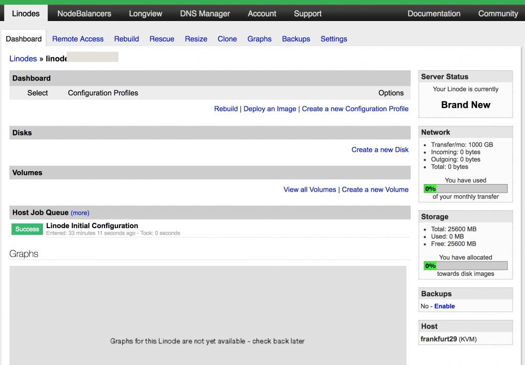 4 linode dashboard 1024x712 - Linode: Come creare un SSD Cloud Server Linux (con soli 5$)