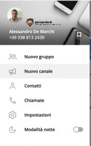 1 bot telegram crea canale 2 188x300 - Come gestire un canale telegram usando i bot
