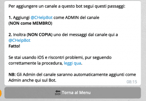 4 bot telegram collega bot a canale 2 300x208 - Come gestire un canale telegram usando i bot