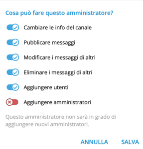 wordpress telegram 10 287x300 - Come integrare wordpress con un canale telegram