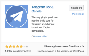 wordpress telegram 11 300x190 - Come integrare wordpress con un canale telegram