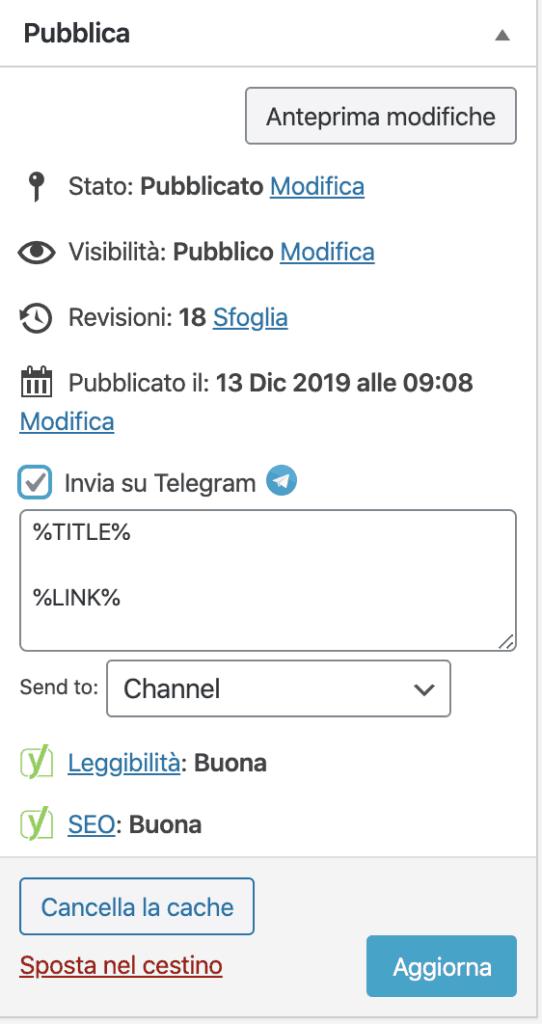 wordpress telegram 20 542x1024 - Come integrare wordpress con un canale telegram