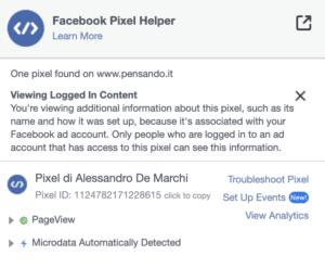 7 pixel facebook 300x247 - Pixel Facebook e Google Tag Manager per monitorare link affiliati