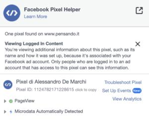 7 pixel facebook 300x247 - Pixel Facebook e Google Tag Manager per monitorare link affiliati