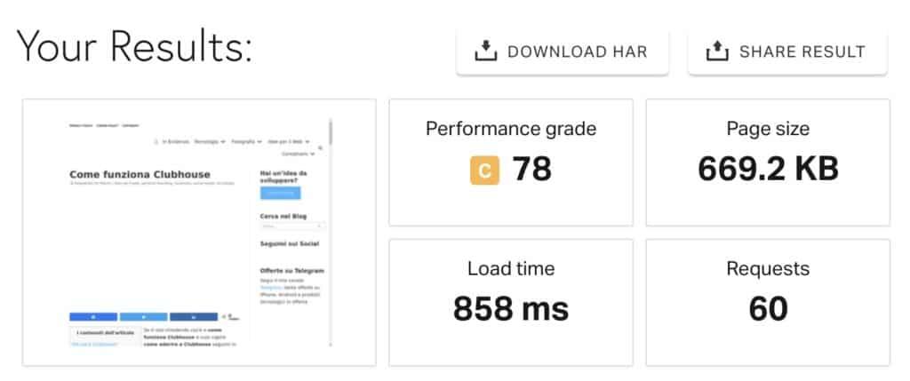 7 neve pingdom 1024x429 - Tema Neve Wordpress: nuovo look con focus su velocità e performance