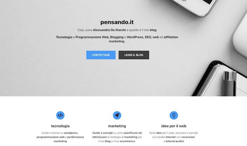 neve home desktop - Tema Neve Wordpress: nuovo look con focus su velocità e performance
