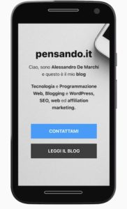 neve home mobile 182x300 - Tema Neve Wordpress: nuovo look con focus su velocità e performance