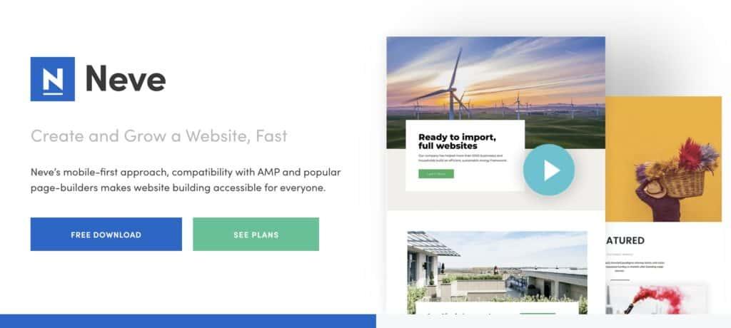 neve tema 1 1024x460 - Tema Neve Wordpress: nuovo look con focus su velocità e performance